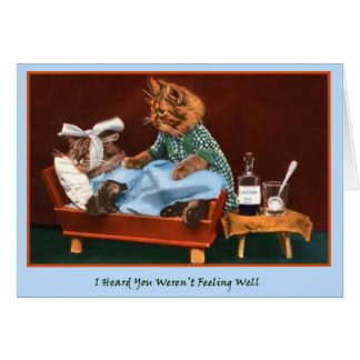 Get Well Kitty Greeting Card