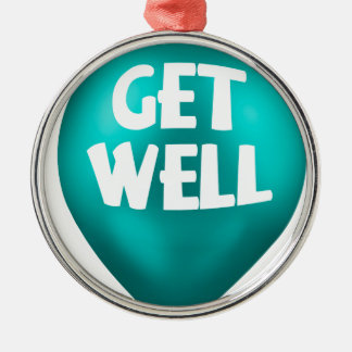 Get Well Metal Ornament