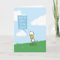 Get Well, Not Feeling So Ducky Card