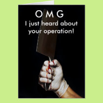 Get Well Operation Card