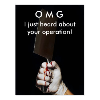 Get Well Operation postcard