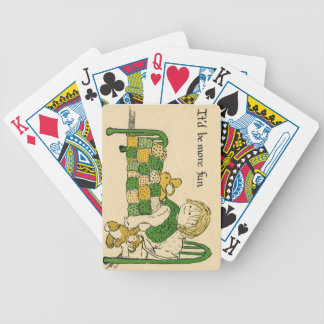 Get Well Bicycle Playing Cards