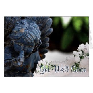 Get Well Prayers Guardian Angel with Bird Card