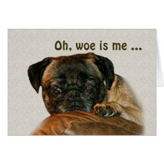 Get Well, Sad Pug Dog Card