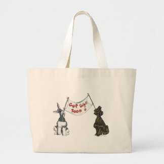 Get  Well Schnauzers Tote Bag
