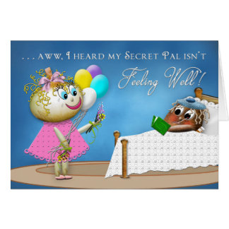 GET WELL SECRET PAL - POTATO FAMILY CARD