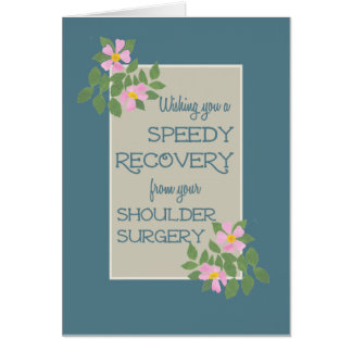 Get Well, Shoulder Surgery Card, Pink Dogroses Greeting Card