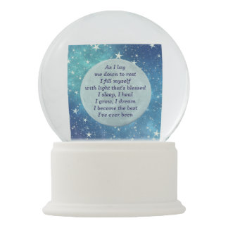 Get Well Sleep blessing design Snow Globe