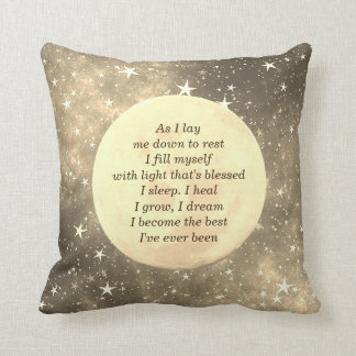 Get Well Sleep blessing design Throw Pillow