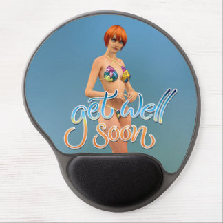 Get Well Soon Aiko Gel Mouse Pad