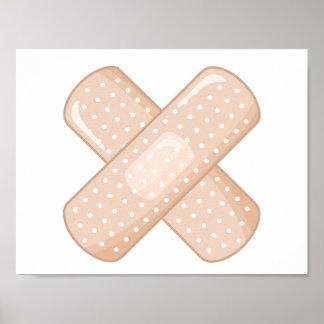 Get Well Soon Bandaid (Nurse Care Crossed Plaster) Poster