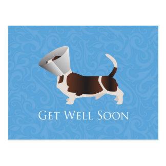 Get Well Soon - Basset Hound Male Postcard