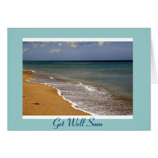 Get Well Soon Beach Card