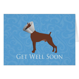 Get Well Soon - Boxer Male Card