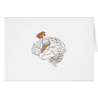 get well soon, brain card