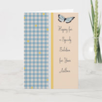 Get Well Soon Card for Asthma with Butterfly