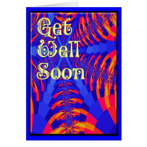 get well soon card template zazzle. Black Bedroom Furniture Sets. Home Design Ideas