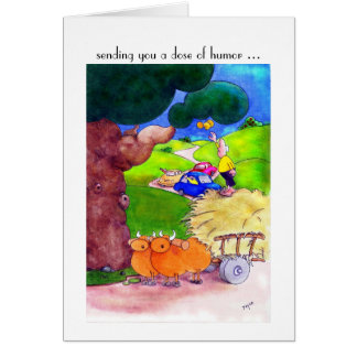 Get Well Soon Cards, Funny Cartoon Greeting Card