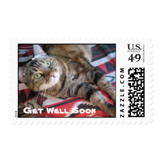Get Well Soon Cat Postage