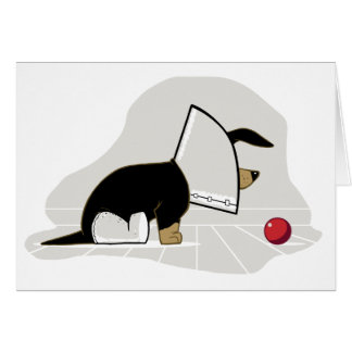 Get Well Soon - Cone of Shame Greeting Card