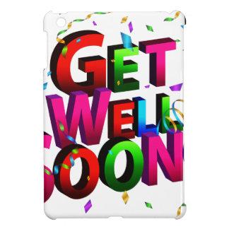 Get Well Soon Confetti Text iPad Mini Covers