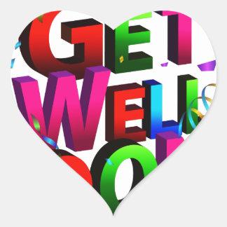 Get Well Soon Confetti Text Heart Sticker