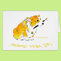 Get Well Soon Corgi Card