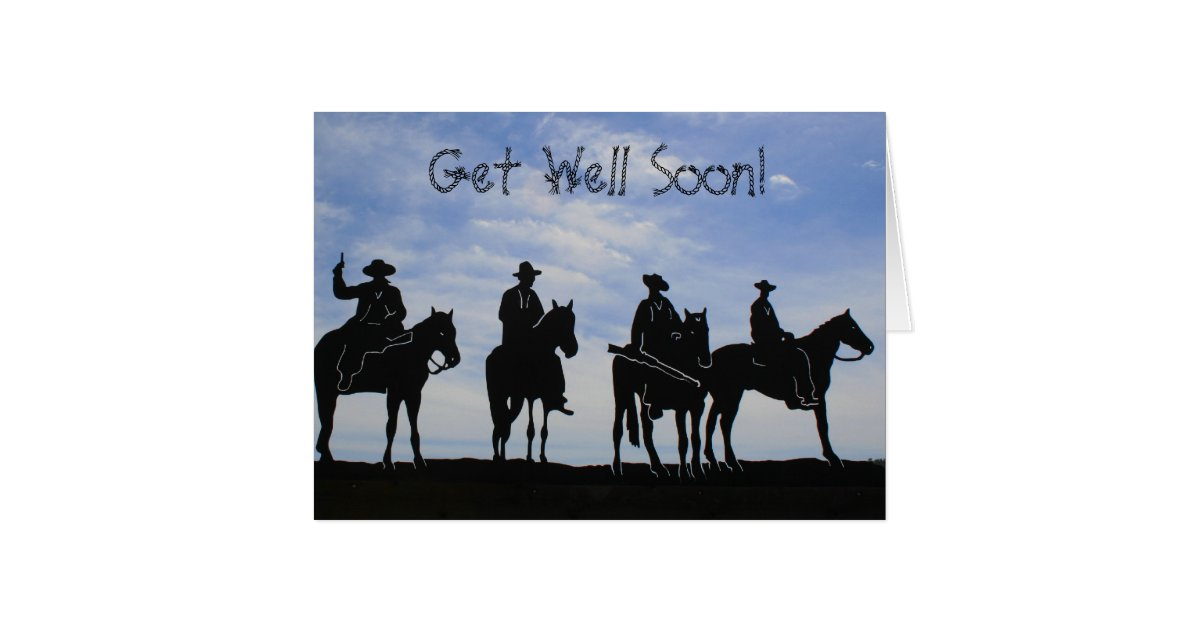 Get Well Soon Cowboys Greeting Card Zazzle Com