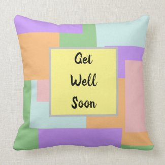 Get Well Soon Customizable Throw Pillow
