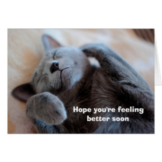 Get Well Soon Cute Cat Card