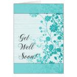 Get Well Soon (Cyan) Card