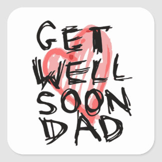 Get well soon dad stickers