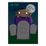 Get Well Soon - Dark Derek Greeting Cards