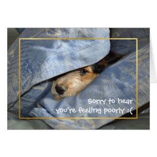 Get well soon dog card