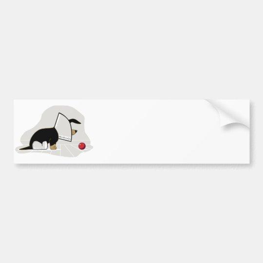 Get Well Soon - Dog Head Cone Bumper Sticker