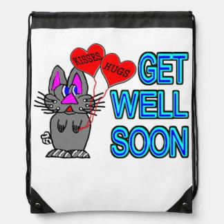 Get Well Soon Drawstring Bag