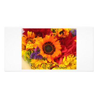 Get Well Soon - Fall Flowers Card