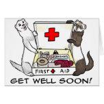 Get Well Soon ferret card