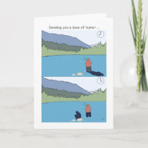 Get well soon fishing cards, funny fisherman card