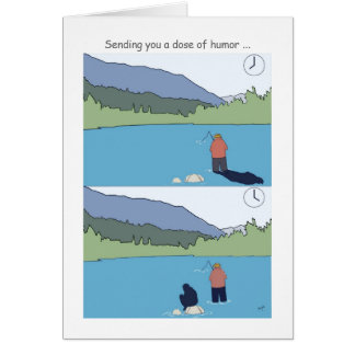 Get well soon fishing cards, funny fisherman greeting card