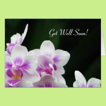 Get Well Soon Floral Greeting Card