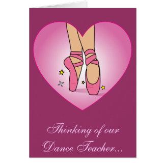 Get Well Soon for Dance Teacher Card