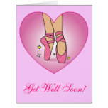 Get Well Soon from Dance Team or Dance Class Card
