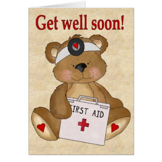 Get well soon greeting cards Personalize it!