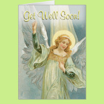 Get Well Soon - Guardian Angel Card