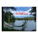 Get Well Soon, Hammock on Mountain Lake Card