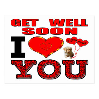 Get Well Soon I Love You Postcard
