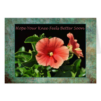 Get Well Soon Knee Surgery Floral Greeting Card