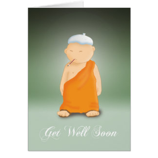 Get Well Soon - Monk Greeting Cards