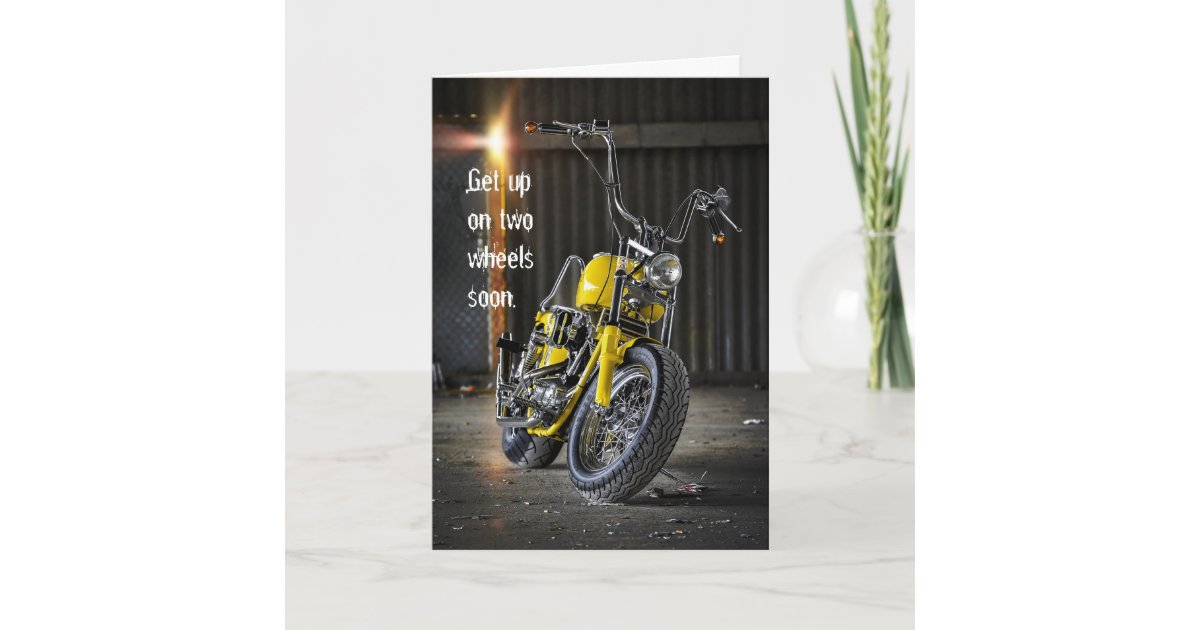Get Well Soon Motorcycle Accident Card Zazzle Com